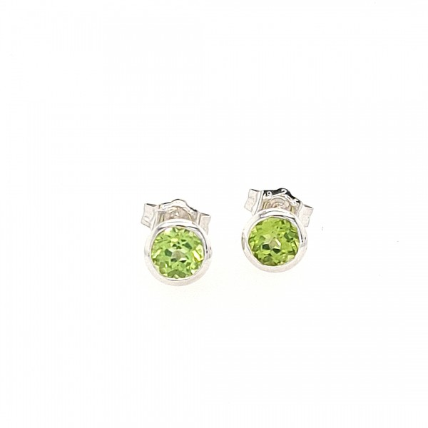 Ohrstecker in Silber mit 1,11 ct. Peridot